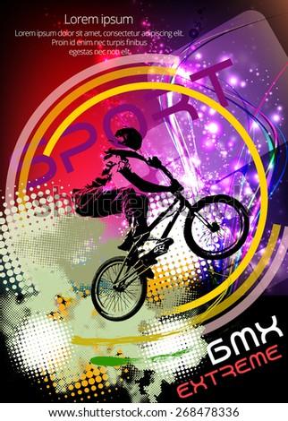BMX rider. Vector design. - stock vector