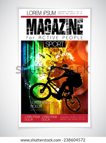 BMX sport cover, vector illustration  - stock vector