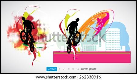 BMX. Sport vector illustration  - stock vector