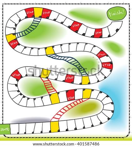 board game - stock vector