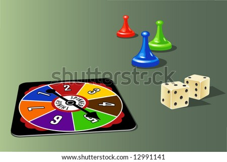 board game elements - stock vector