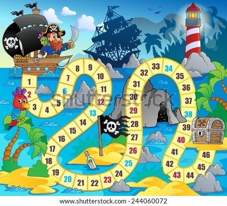 Board game theme image 5 - eps10 vector illustration. - stock vector