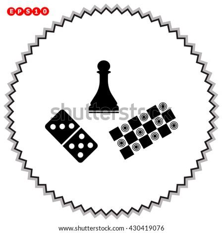 Board games icon. Board games vector. - stock vector