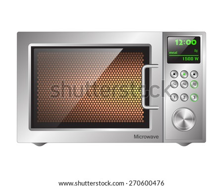 board microwave oven - stock vector