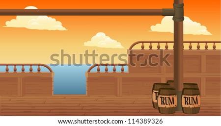 boat at sea - stock vector