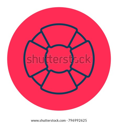 boat lifesaver icon stock vector 796992625 shutterstock