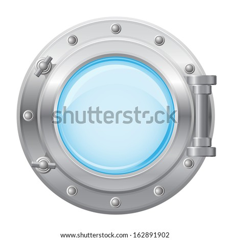 boat porthole vector illustration isolated on white background - stock vector
