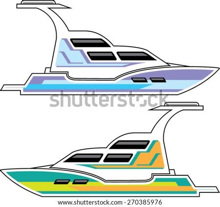 Boat Vector - stock vector