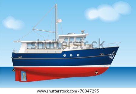 Boat vector - stock vector