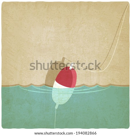 bobber fishing background - vector illustration. eps 10 - stock vector