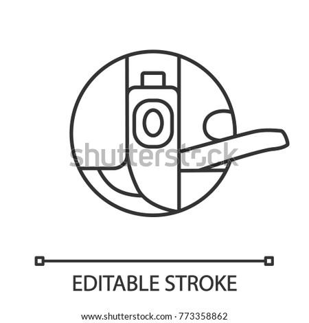 Bobbin Case Linear Icon Thin Line Stock Vector 773358862 Shutterstock