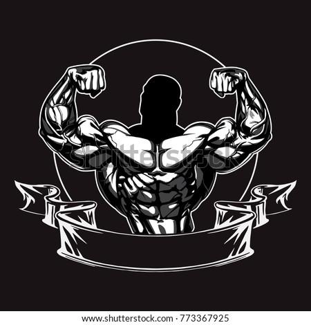 Dumbbell Icon Vector Bodybuilder Logo Templ...