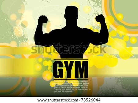 Bodybuilding. Vector illustration. - stock vector