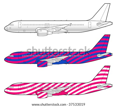 boeing aircraft template - stock vector