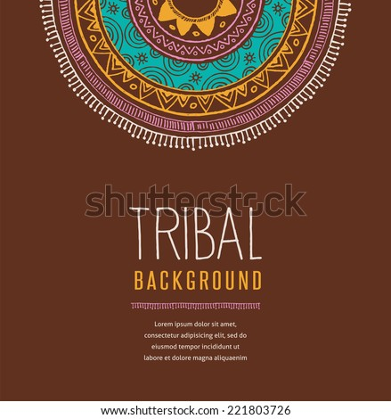 Boho, Ethnic, tribal and Indian backgound - stock vector