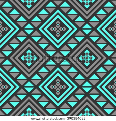 Boho Seamless Pattern With Tribal Aztec Ornament Abstract Vector Wallpaper In Ethno Syle