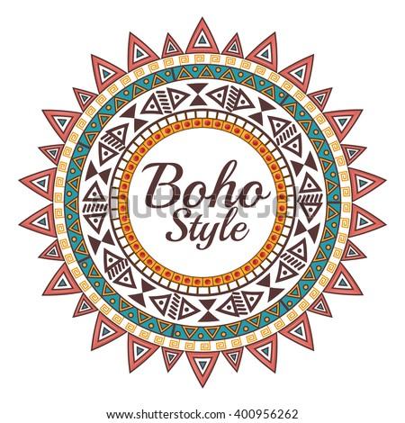 boho style design  - stock vector
