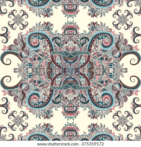 Boho style, ornament, texture. Abstract floral plant natural Seamless pattern. Vintage decorative elements. Ethnic ornamental floral. Hippie, Indian, fantasy. Textile print, Fabric design, wallpaper