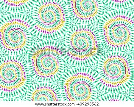 S Curve Tie Dye Designs