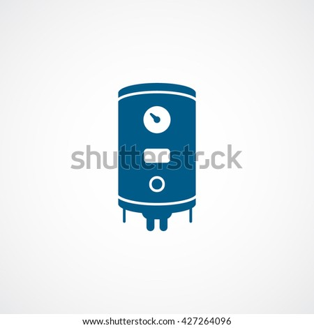 Boiler Blue Icon On White Background