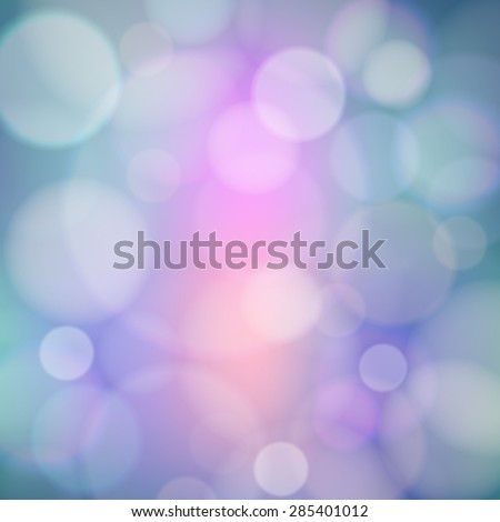 Bokeh effect on the blurred background. Abstract vector composition with dappled light and color. Can be used as background for your design. - stock vector