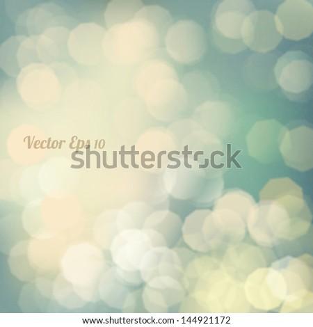 Bokeh light Vintage background, Vector eps10 - stock vector