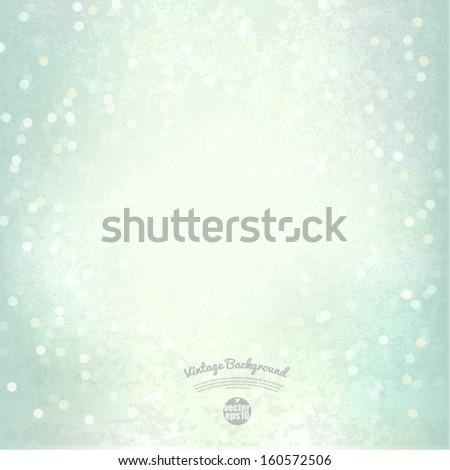 Bokeh light Vintage background, Vector illustration - stock vector