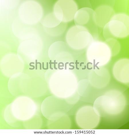 Bokeh on light green background. Vector illustration - stock vector