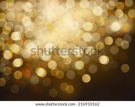 Bokeh Texture - Glittering Festival Lights (EPS10 Vector) - stock vector