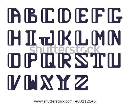 Bold Alphabet Capital Latin Letters Sans Stock Vector 403212145