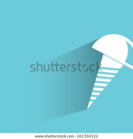 bolt on blue background, flat and shadow theme - stock vector