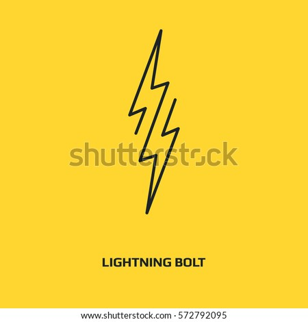 Bolt Vector Icon Lightning Symbol Electric Stock Vector 572792095