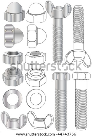 bolts - stock vector