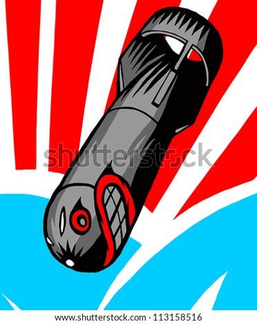 Bomb LAUGH - stock vector