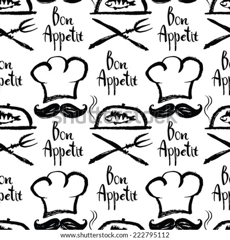 Bon Appetit background - stock vector
