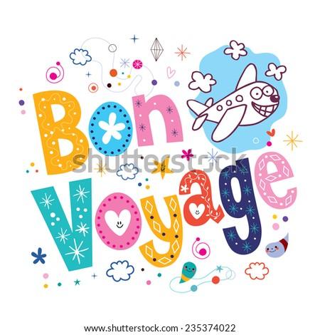 Bon Voyage - stock vector