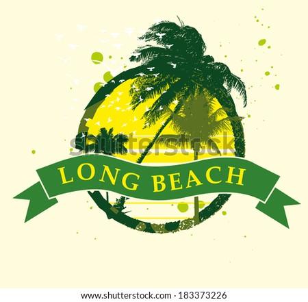 Bondi Beach sydney australia vector art - stock vector