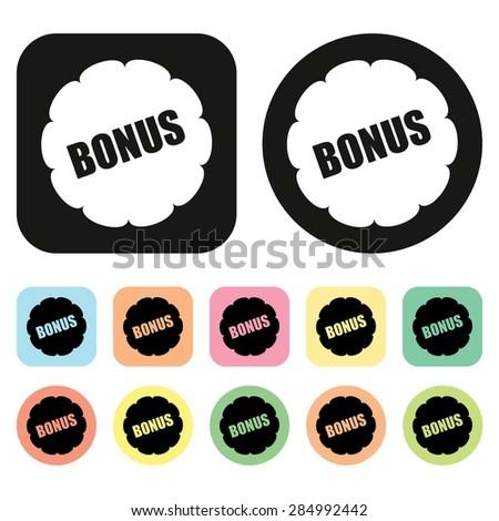 Bonus icon. Vector - stock vector