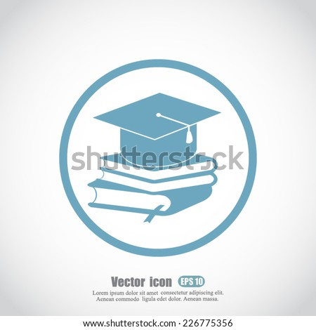 book and student vector icon - stock vector