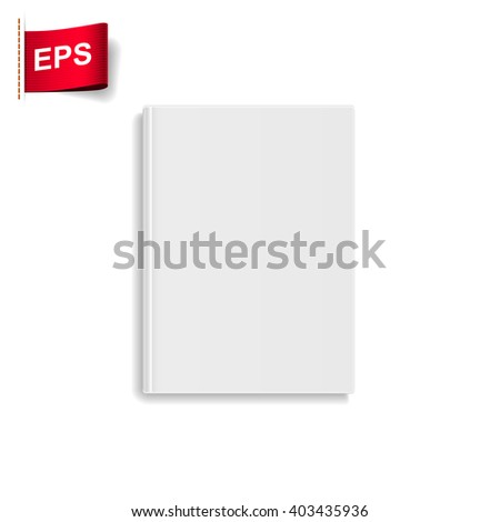 book blank cover, - stock vector