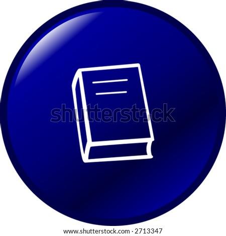 book button - stock vector