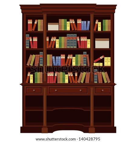 Book Cabinet Vector