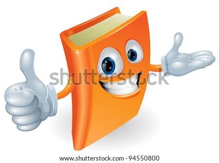 Book cartoon character mascot giving a thumbs up - stock vector