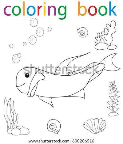Vector Book Coloring Dinosaur Cartoon Stock Vector 599876156