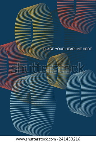 Book cover/ Background design/ Graphics/ Layout/ Content page/ - stock vector