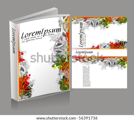 book cover design - stock vector