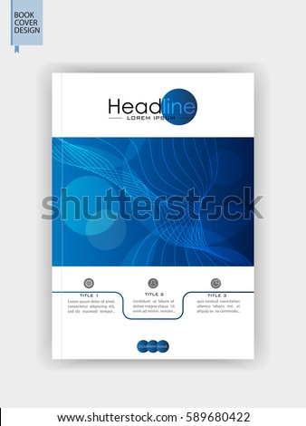 Book Cover Design A Blue Brochure Stock Vector Hd Royalty Free