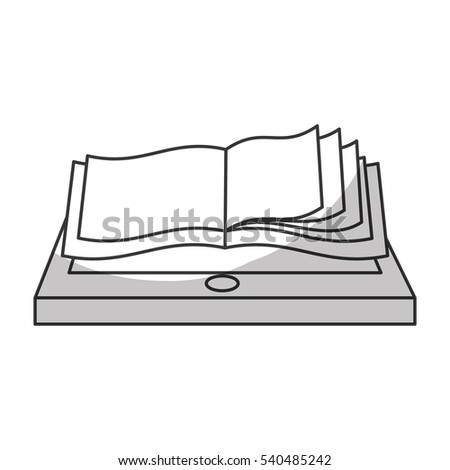 book download related icons image vector illustration design