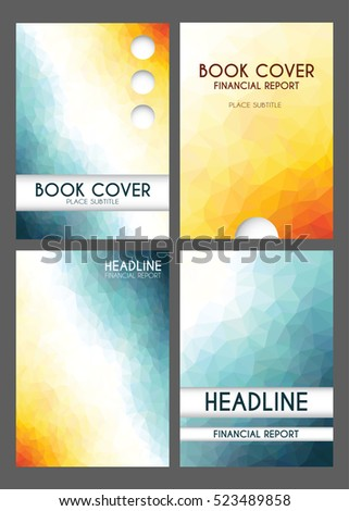 book front page backgrounds annual financial business report templates edible low poly modern