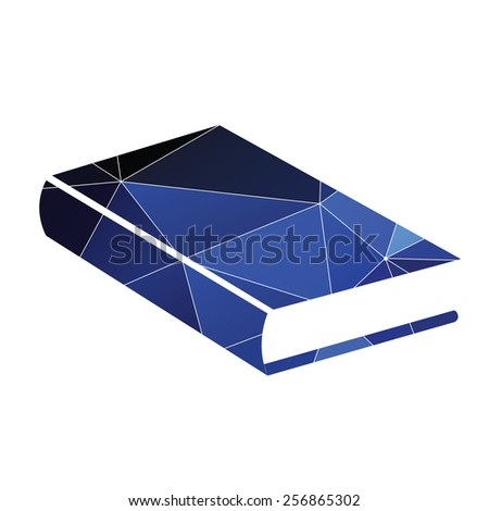 book icon Abstract Triangle Geometrical background